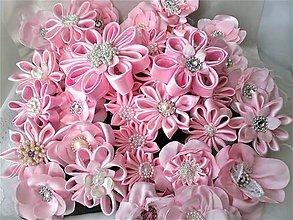 Iné doplnky - Saténové kvety - 10640230_