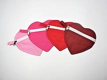 Taštičky - Srdiečko púzdro na zips jednofarebné - 10641004_