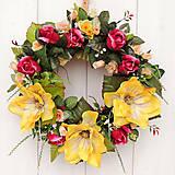 Dekorácie - Veľký veniec s magnoliami - 10639349_