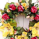 Dekorácie - Veľký veniec s magnoliami - 10639351_