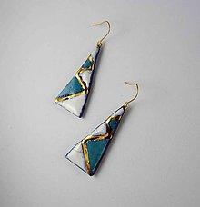 Náušnice - Tana šperky - keramika/zlato - 10639050_