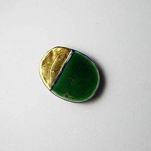 Odznaky/Brošne - Tana šperky - keramika/zlato - 10640752_