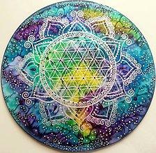 Dekorácie - Kvet života / Vesmírna Odysea...Uzdravenie - 10640797_