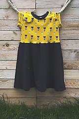 Detské oblečenie - PUPU šaty - mačičky (bio bavlna) - 10639296_