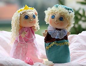 Hračky - Maňuška. Princ a princezná zo Snežného kráľovstva. - 10640677_