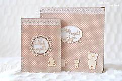 Papiernictvo - Zápisník pre bábätko / chlapčeka (bodkovaný) - 10639213_
