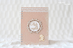 Papiernictvo - Zápisník pre bábätko / chlapčeka (bodkovaný) - 10639214_