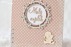 Papiernictvo - Zápisník pre bábätko / chlapčeka (bodkovaný) - 10639215_