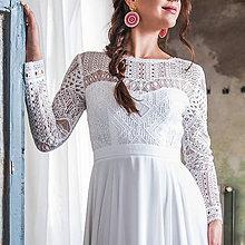 Šaty - Svadobné šaty z bavlnenej krajky v boho štýle - 10640637_