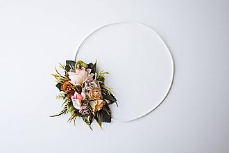 Ozdoby do vlasov - Elastická čelenka s kvetinami - VÝPREDAJ - 10639207_