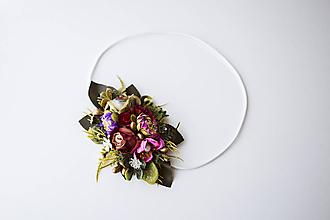 Ozdoby do vlasov - Elastická čelenka s kvetinami - VÝPREDAJ - 10639219_