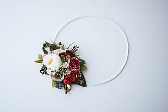 Ozdoby do vlasov - Elastická čelenka s kvetinami - VÝPREDAJ - 10639231_