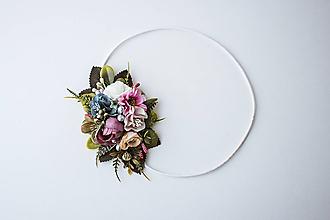 Ozdoby do vlasov - Elastická čelenka s kvetinami - VÝPREDAJ - 10639232_