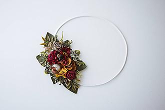 Ozdoby do vlasov - Elastická čelenka s kvetinami - VÝPREDAJ - 10639254_