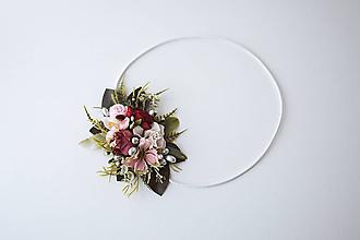 Ozdoby do vlasov - Elastická čelenka s kvetinami - VÝPREDAJ - 10639256_