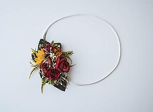 Ozdoby do vlasov - Elastická čelenka s kvetinami - VÝPREDAJ - 10639261_