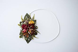 Ozdoby do vlasov - Elastická čelenka s kvetinami - VÝPREDAJ - 10639264_