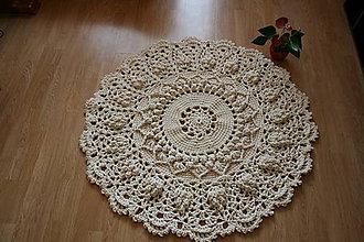 Úžitkový textil - háčkovaný koberček - 10640955_