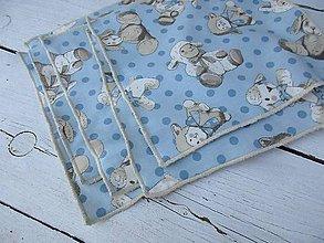 Textil - detské bezodpadové obrúsky-ovečky - 10640059_