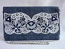 Ručne vyšívaná listová kabelka