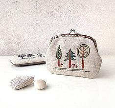 Peňaženky - Peňaženka XL Farebný lesík - 10640284_
