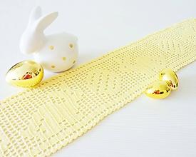 Úžitkový textil - Veľkonočná štóla na stôl, výpredaj! - 10639558_
