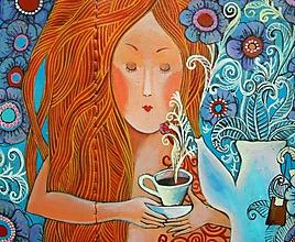 Papiernictvo - Ranní čaj - kožená dokladovka - 10639300_