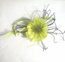 Ozdoby do vlasov - Fascinátor z peria - 10639899_