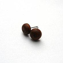 Náušnice - Drevené náušnice napichovacie - vypuklé ďobky z topoľovej kôry - 10638798_
