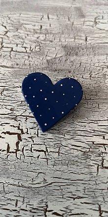 Odznaky/Brošne - bodkovaná brošňa (menšia modrá) - 10638997_