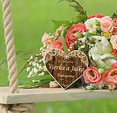 Darčeky pre svadobčanov - Svadobná magnetka - 10643203_