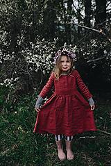 Detské oblečenie - Zoja šaty bordové - 10643396_