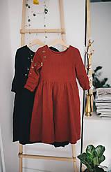 Detské oblečenie - Zoja šaty bordové - 10643397_