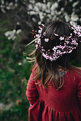 Detské oblečenie - Zoja šaty bordové - 10643398_