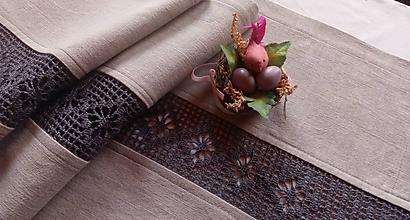 Úžitkový textil - *** Ľanová štóla - gray *** - 10643815_