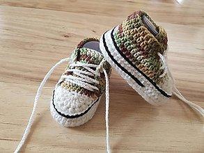 Topánočky - Maskáčové tenisky - 10643027_