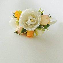 Detské doplnky - Kvetinová čelenka - 10643997_