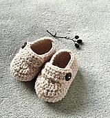 Topánočky - Topánočky pre bábätko (9-10 cm - Béžová) - 10642490_