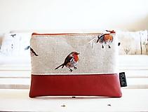 Taštičky - Kozmetická taška veľká - vtáčiky - 10642842_
