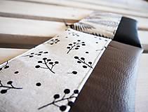 Taštičky - Kozmetická taška veľká - vetvičky - 10642860_