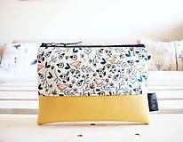 Taštičky - Kozmetická taška veľká - malé vtáčiky - 10642976_