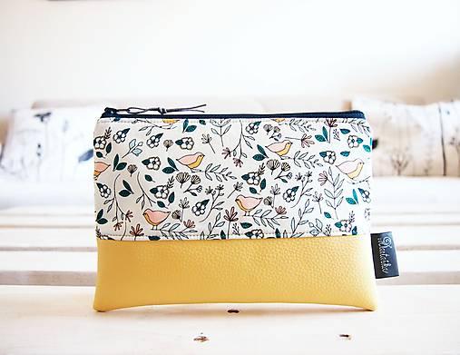 Kozmetická taška veľká - malé vtáčiky