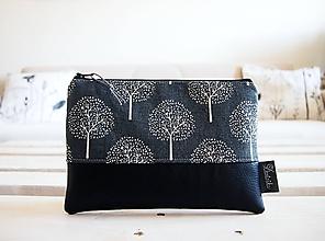 Taštičky - Kozmetická taška veľká - stromy v sivej - 10642883_