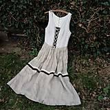 Šaty - Šaty ľanové- zľava zo 45,50 - 10644264_