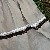 Šaty - Šaty ľanové- zľava zo 45,50 - 10644270_