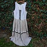Šaty - Šaty ľanové- zľava zo 45,50 - 10644273_