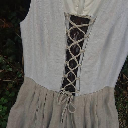 Šaty ľanové- zľava zo 45,50