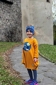 Detské oblečenie - Mikinošaty  Asimetric (Wolf 4 girl ( bio- teplakovina)) - 10644404_