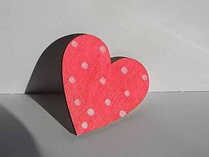 Odznaky/Brošne - brošňa ružová s bodkami - 10643646_