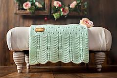 """Textil - Detská deka, """"Daisy"""",OEKO-TEX® - Zelená - 10644134_"""